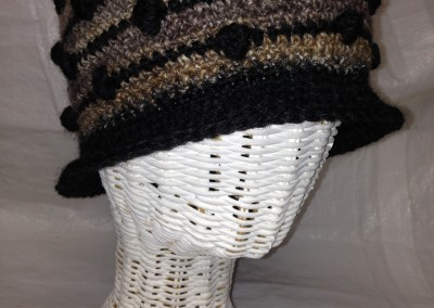 Crocheted Silk and Mohair Cloche